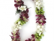 Purple Green and White Dendro Lei
