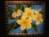 "Morning Plumeria - Oil on Canvas, 20"" x 24"""