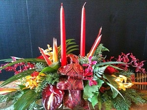 Xmas Centerpiece with candles