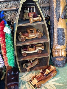 Handmade wood cars